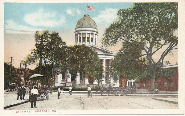Norfolk City Hall in 1907